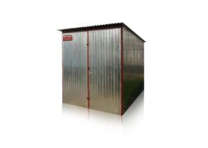 Plechová garáž 2x3 so spádom strechy dozadu
