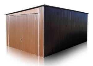 Plechová garáž 4x6 so spádom na bok