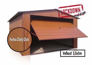 Plechová garáž 3,5x5m sedlová strecha