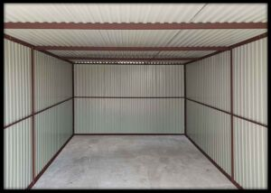 Konštrukcia garáže - so spádom strechy dozadu