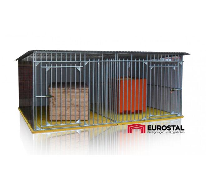 dvojitý plechová garáž 4x2