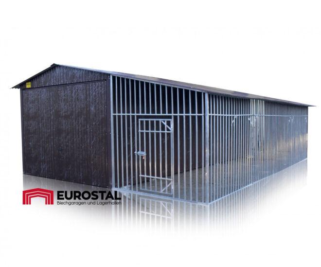 Plechová garáž koterec pre psov 2x8
