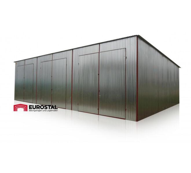 plechová garáž so spádom strechy dozadu 12x6m
