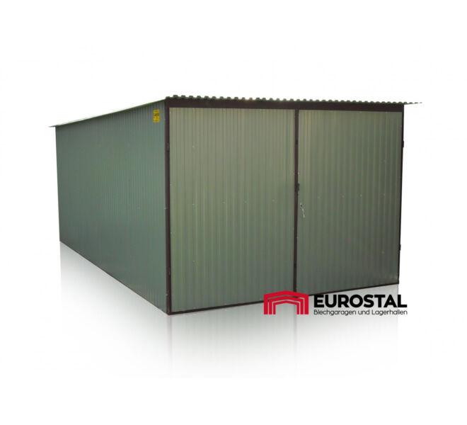 plechová garáž so spádom strechy dozadu 3x5m kolor RAL 9006