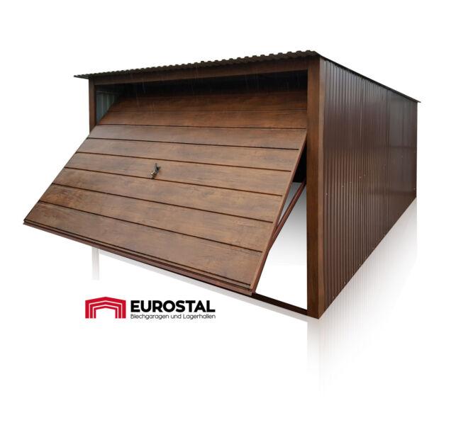 plechová garáž so spádom strechy dozadu 3x5m RAL szin BTX 8-17o