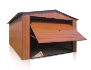 Plechová garáž 3,5x5 sedlová strecha