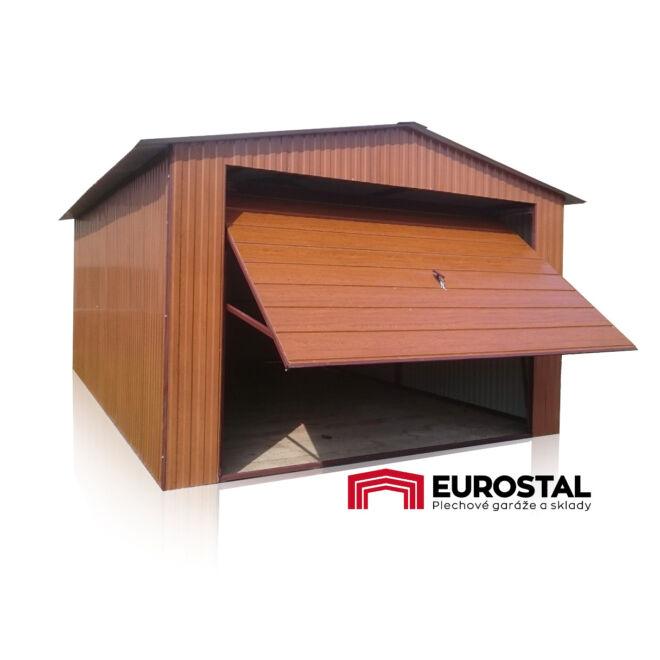 Plechová garáž s 3,5x5 sedlová strecha