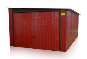 Plechová garáž 3,5x6 so spádom na bok