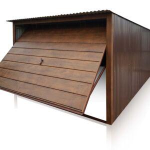 Plechová garáž 3x5 so spádom strechy dozadu