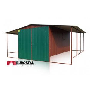 Plechová garáž 3x6 sedlová strecha
