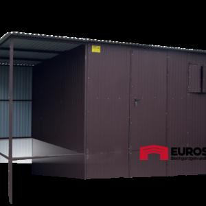 Plechová garáž 4x3 so spádom strechy dozadu