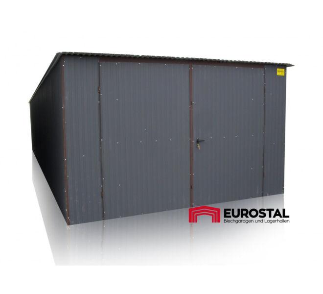 Plechová garáž 4x6 so spádom strechy dozadu