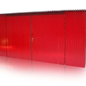 Plechová garáž 5x5 so spádom strechy dozadu