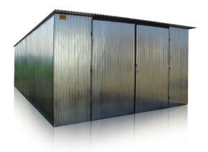 Plechová garáž 5x7 so spádom strechy dozadu