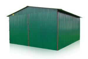 Plechová garáž 5x8 sedlová strecha