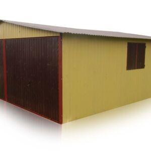 Plechová garáž 6x5 sedlová strecha