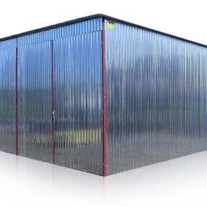 Plechová garáž 6x6 so spádom strechy dozadu