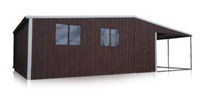 Plechová garáž 6x6 so spádom na bok
