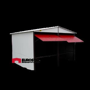 Plechová garáž 6x6 sedlová strecha