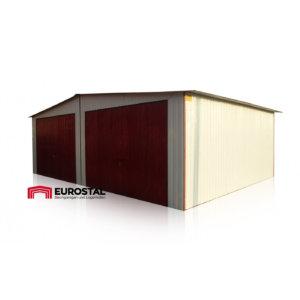 Plechová garáž 7x5 sedlová strecha