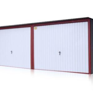 Plechová garáž 9x5 so spádom strechy dozadu
