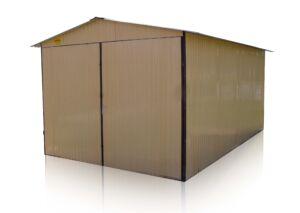 plechová garáž sedlová strecha 3x5