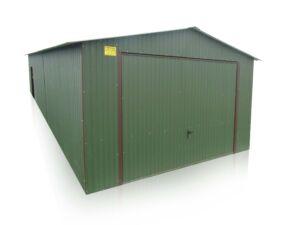 plechová garáž sedlová strecha 4x10
