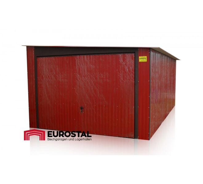 plechová garáž so spádom na bok 3,5x6m kolor RAL 3011