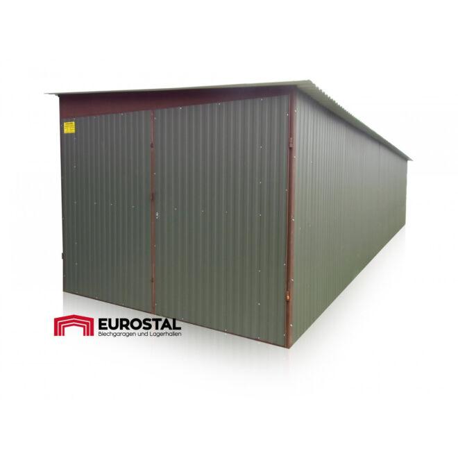 plechová garáž so spádom na bok 3x6 kolor RAL 7016