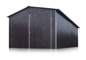 Plechová garáž 4x6 sedlová strecha RAL 8017