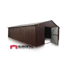 Plechová garáž 4x7 sedlová strecha