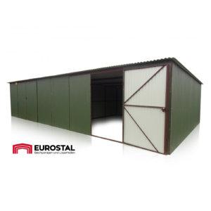 Plechová garáž 10x5 so spádom strechy dozadu