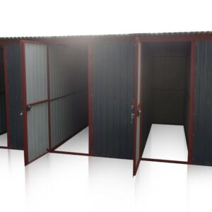 Plechová garáž 5x3 so spádom strechy dozadu