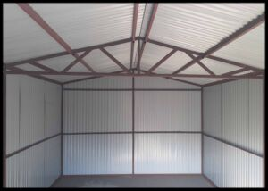 Konštrukcia garáže -SEDLOVÁ STRECHA