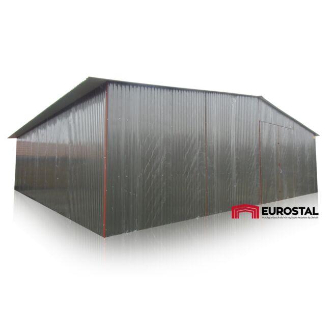 plechová garáž 10x10 sedlová strecha