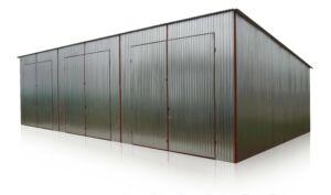 plechová garáž 12x6 so spádom strechy dozadu