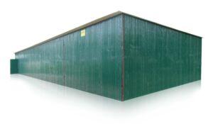 plechová garáž 25x6 so spádom strechy dozadu