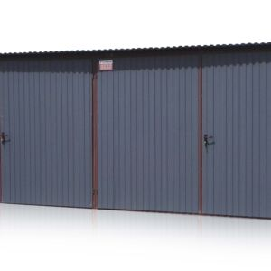 Plechová garáž 6x5 so spádom strechy dozadu