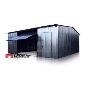 plechová garáž 6x7 sedlová strecha