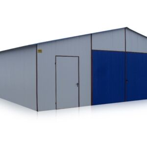 plechová garáž 7x20 sedlová strecha