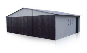 Plechová garáž 9x6 sedlová strecha