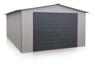 Garáž 4x5 vo farbe RAL 7035,so sedlovou strechou