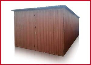 2 AKOSŤ Plechová garáž 3×5, so spádom strechy dozadu:
