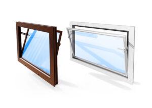 Okno PVC biela alebo hnedá