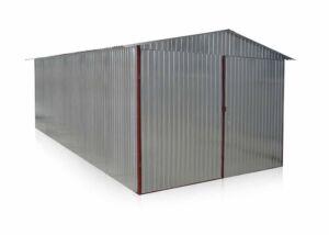 Plechová garáž 3x6 sedlová strecha pozink
