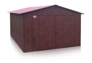 Garaź 3,5 x 5 m sedlova strecha- Tmavý orech mat