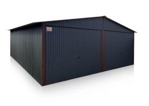 Dvojitá garáž 6x5 / 6x6 m - sedlová strecha - grafit