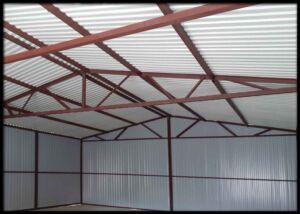 Konštrukcia garáže 6x6m SEDLOVÁ STRECHA