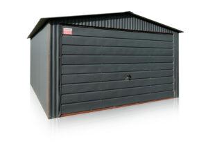Garáž 4x5m vo farbe BTX 7016, so sedlovou strechou