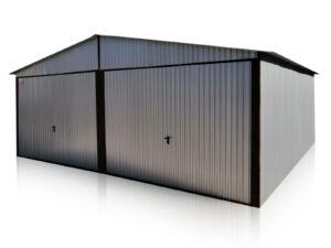 Plechová garáž pre dve autá, rozmery: 6 x 5 m